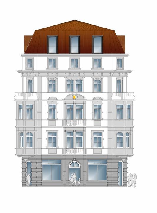 So soll der Freiburger Hof aussehen.   | Foto: Bild: Höfler & Stoll Architekten