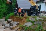 Fotos: Hochwasser am M�rkter Stauwehr und der Kander