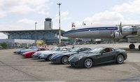 Ferrari-Parade trifft Flugzeug