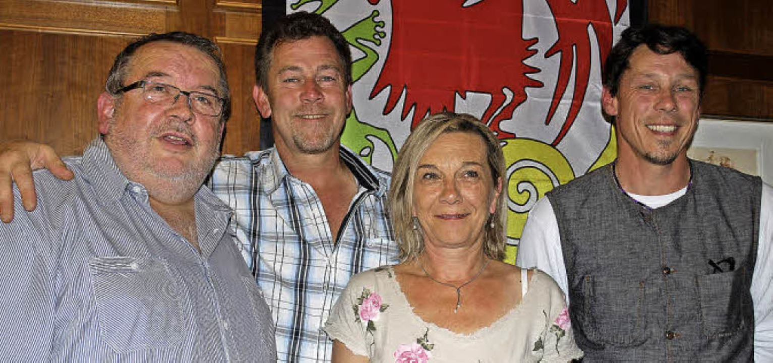 Klaus Ciprian-Beha, Andreas Glattacker...hen in der Narrenzunft an der Spitze.     Foto: Thomas Loisl Mink