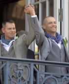 Erstes Stra�burger Homopaar heiratet