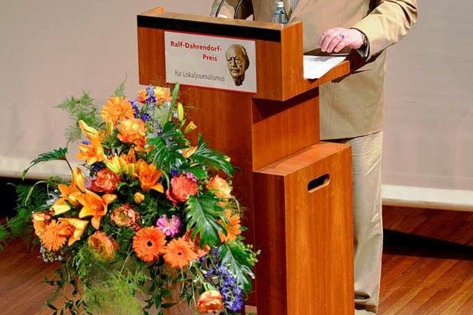 Einer der Stifter des Preises ist der Herausgeber der Badischen Zeitung Christian Hodeige. (Foto: Ingo Schneider)