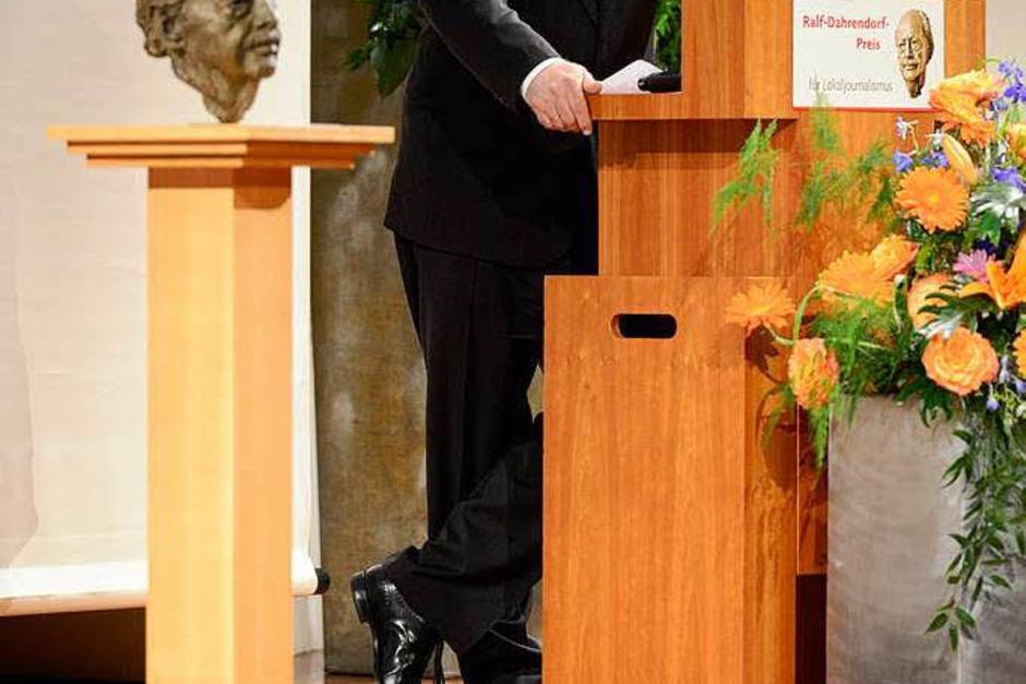 Juror Werner d'Inka, Herausgeber der Frankfurter Allgemeinen Zeitung. (Foto: Ingo Schneider)
