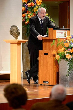 Juror Werner d'Inka, Herausgeber der Frankfurter Allgemeinen Zeitung.