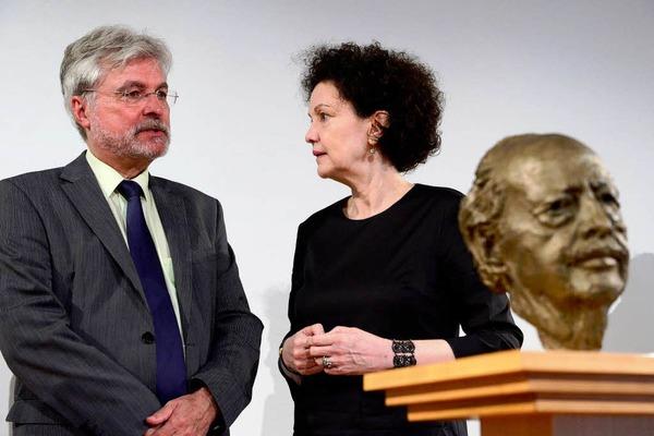 Christiane Dahrendorf und BZ-Chefredakteur  Thomas Hauser
