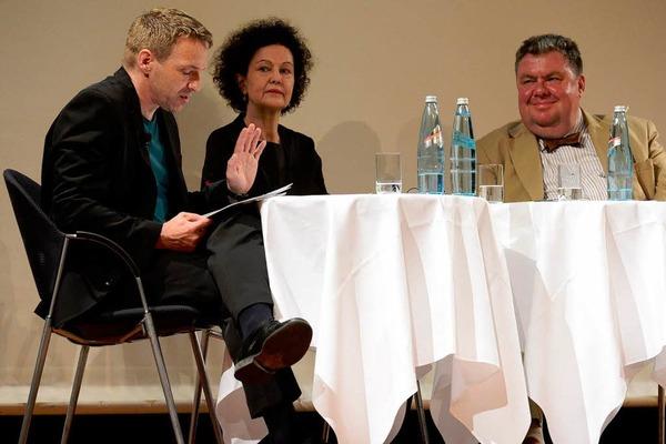 Der Schauspieler Peter Haug-Lamersdorf las aus den prämierten Werken.