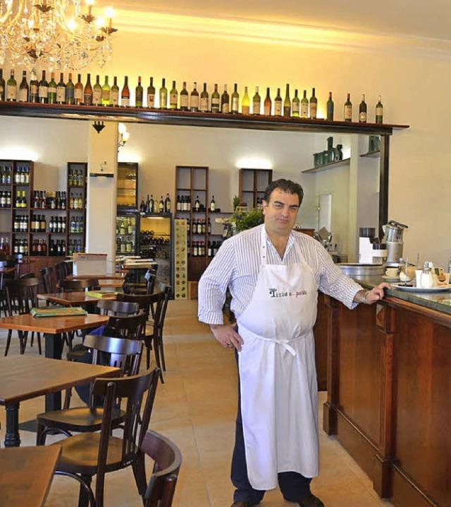 Angelo Pellegrini  tischt in seinem Tizio  Spezialitäten auf.  | Foto: Anita  Fertl