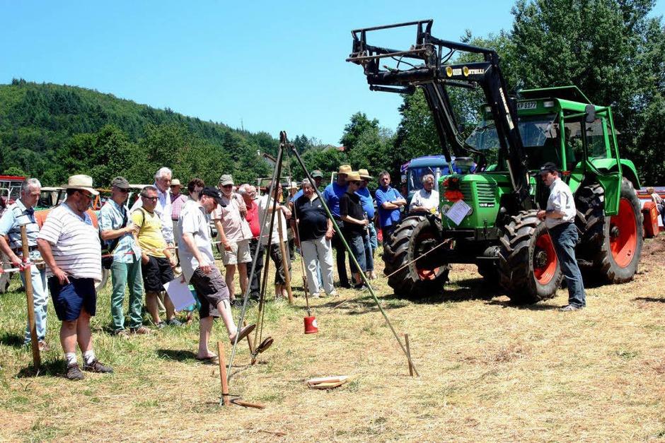Kniffelige Aufgaben mussten die Traktorfahrer beim Geschicklichkeitswettbewerb meisten. (Foto: Heiner Fabry)