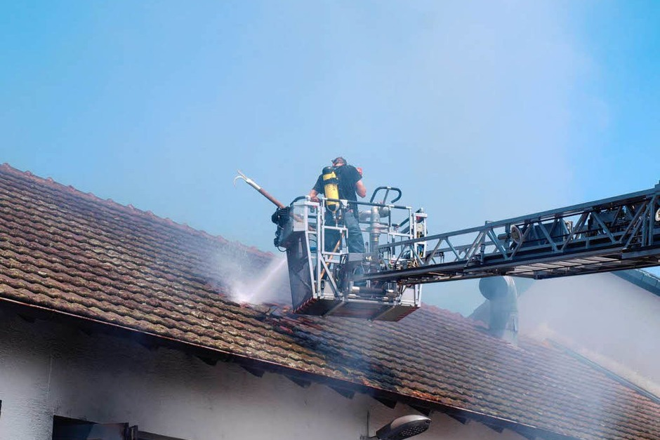 Brand im Feuerwehrgerätehaus Kandern (Foto: Hermann Sprich)