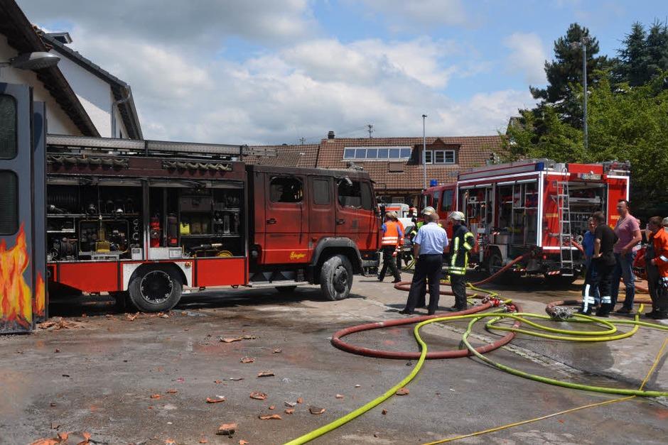 Brand im Feuerwehrgerätehaus Kandern (Foto: Markus Maier)