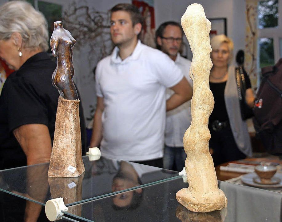 Atelierbummel durch Riegel: 16 Künstler präsentierten sich in ihrem Wohnort.  | Foto: Christiane Franz