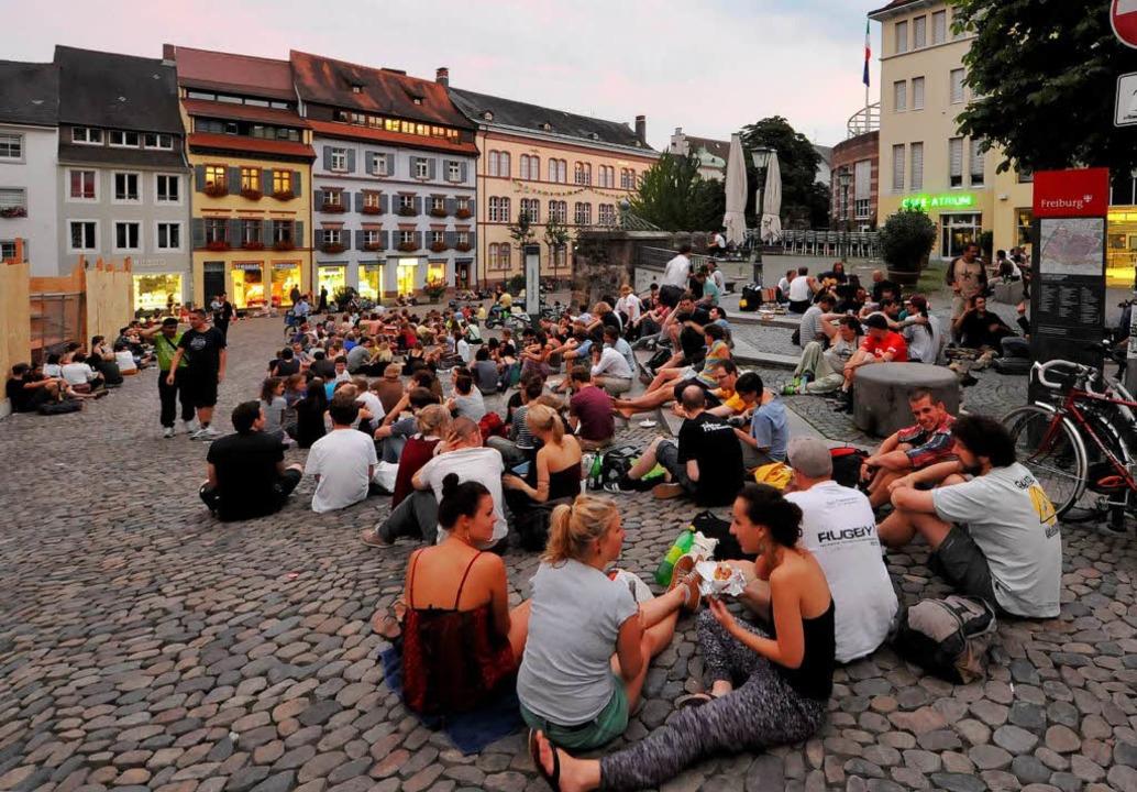 Freiburgs Problemzone Augustinerplatz    Foto: Michael Bamberger