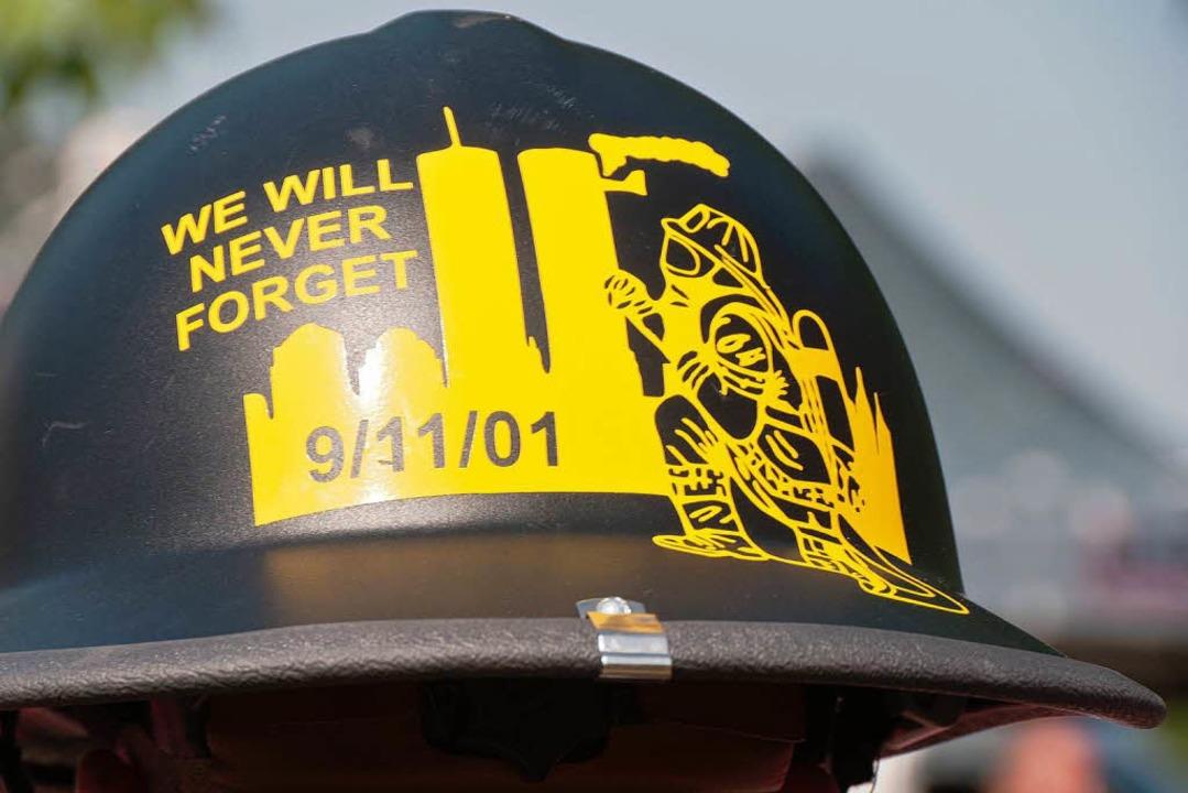 Firefighter der US-Militärstützpunkte ....9. 2001  gestorbenen  Feuerwehrleute.    Foto: Alexander Anlicker