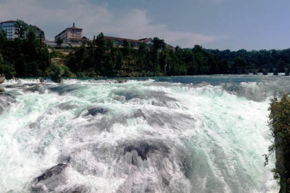 Impressionen von der <?ZP?> BZ-Wanderung zum Rheinfall in Schaffhausen mit <?ZP?> Hans Loritz. (Foto: Knöferl)