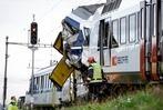 Fotos: Zusammenstoß zweier Züge in der Westschweiz
