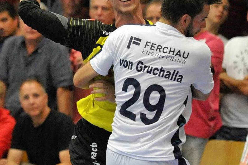 Keine Chance, aber ein tolles Erlebnis für alle Beteiligten: Die SG Köndringen-Teningen zu Hause im DHB-Pokal gegen Gummersbach. (Foto: Achim Keller)