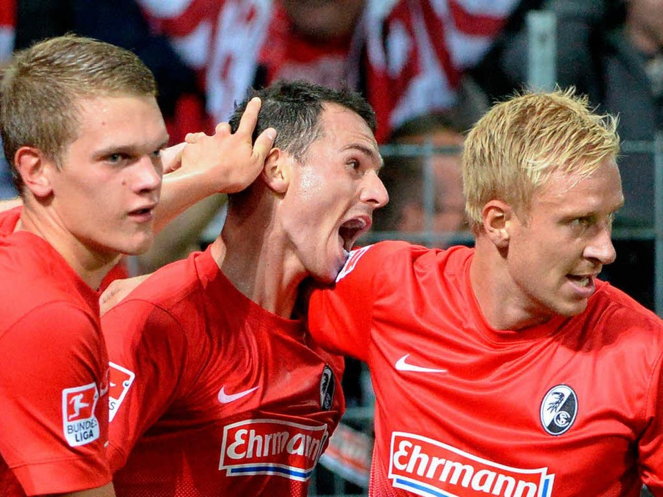 Nicolas Höfler schoss den SC Freiburg zum 1:1.  | Foto: dpa