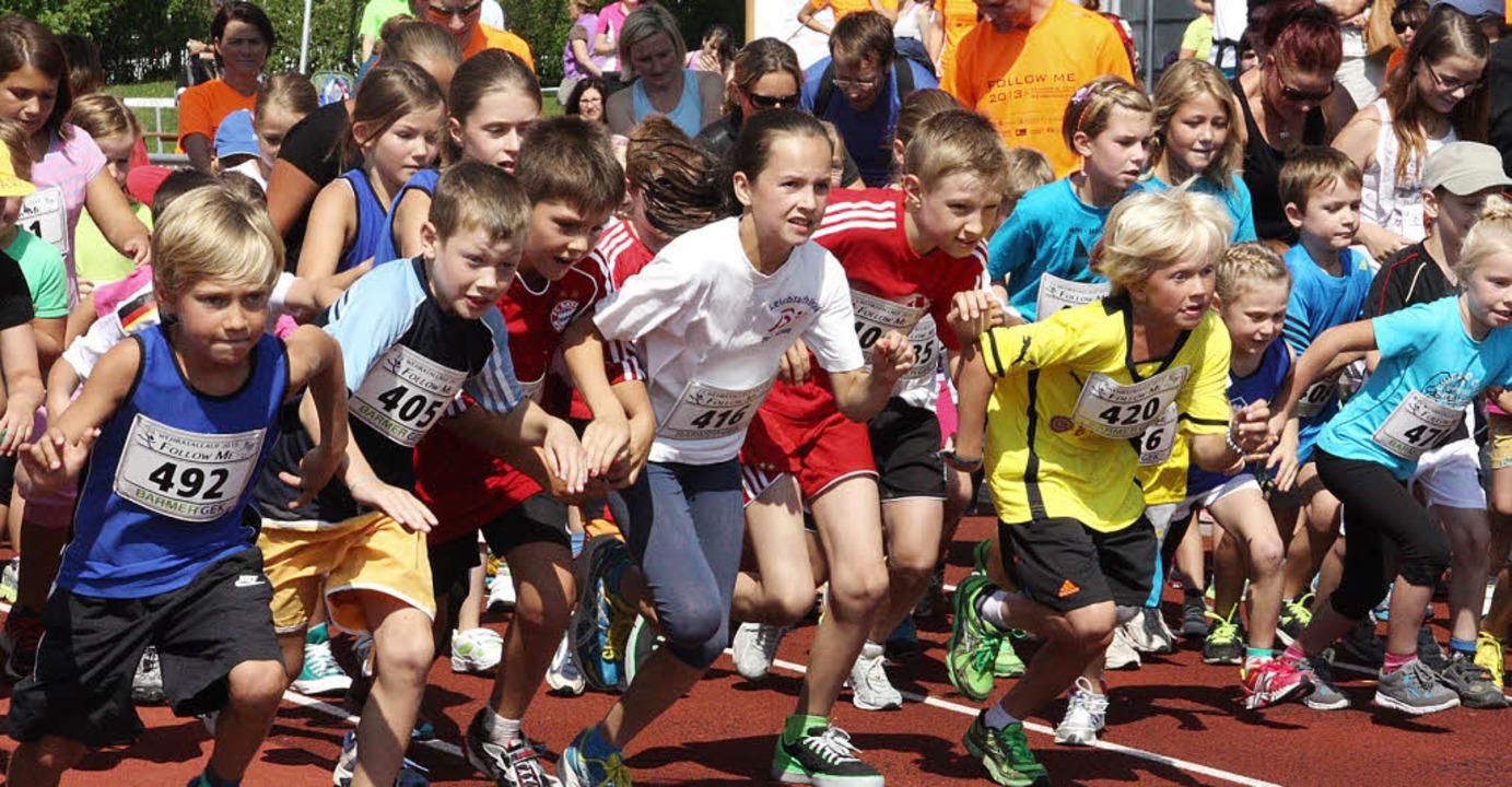 Die kleinen Sportler konnten bei Kinde...diesem Jahr an der Veranstaltung teil.  | Foto: Jörn Kerckhoff