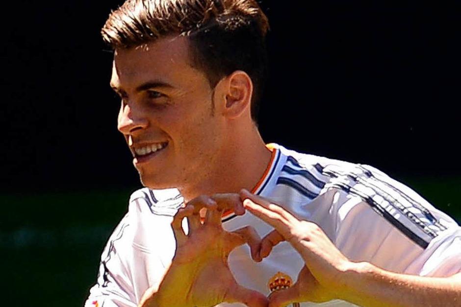 1.  Gareth Bale  ,  2013  von Tottenham zu    Real Madrid, Ablösesumme 100 Millionen Euro (Quelle aller Angaben: Sportinformationsdienst) (Foto: AFP)