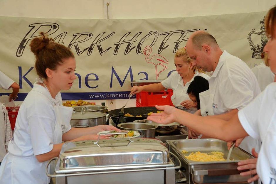 Acht Gastronomen aus der Region sorgten für die Verpflegung der Besucher. (Foto: Gerhard Walser)