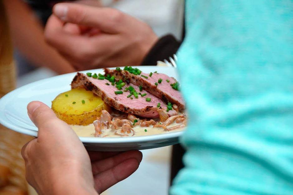 Lecker und regional: Ein Angebot der Pfännle-Köche. (Foto: Gerhard Walser)