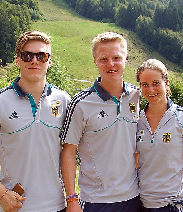 Radfahrer Luis Brethauer, Skispringer ...s Sportsoldaten den Fragen der Gäste.   | Foto: ulrike jäger