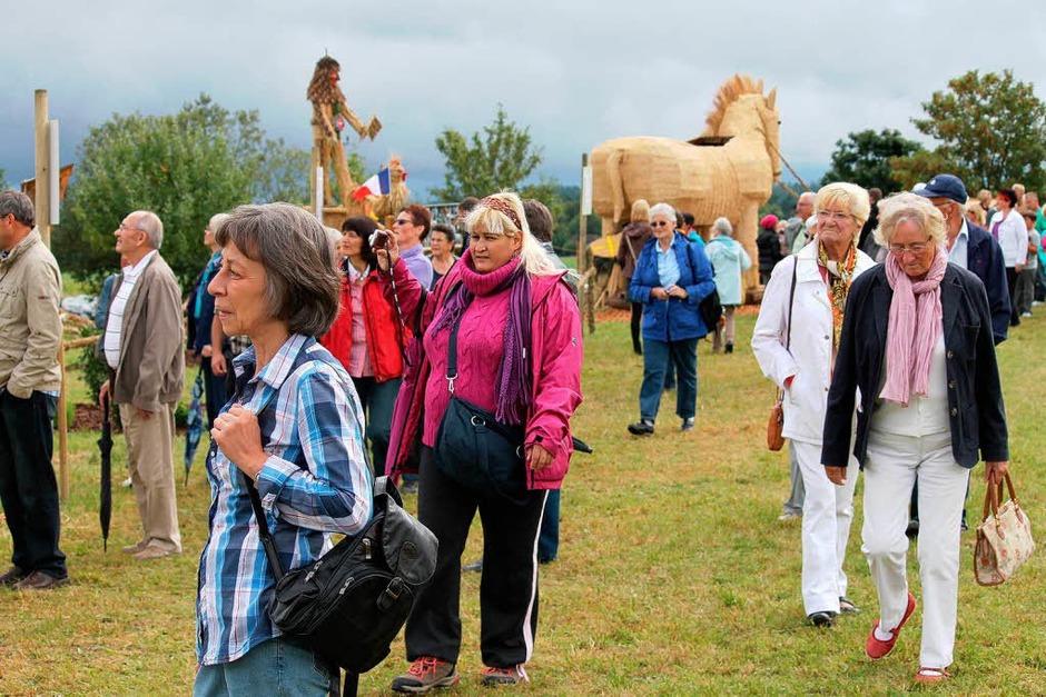 Viele Besucher kamen bei der Eröffnung auf das Ausstellungsgelände in Höchenschwand-Frohnschwand. (Foto: Cornelia Liebwein)