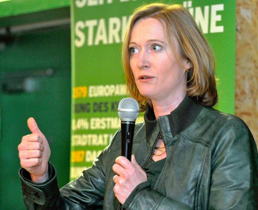 Kerstin Andreae von den Grünen sieht Chancen auf das Direktmandat.  | Foto: Michael Bamberger