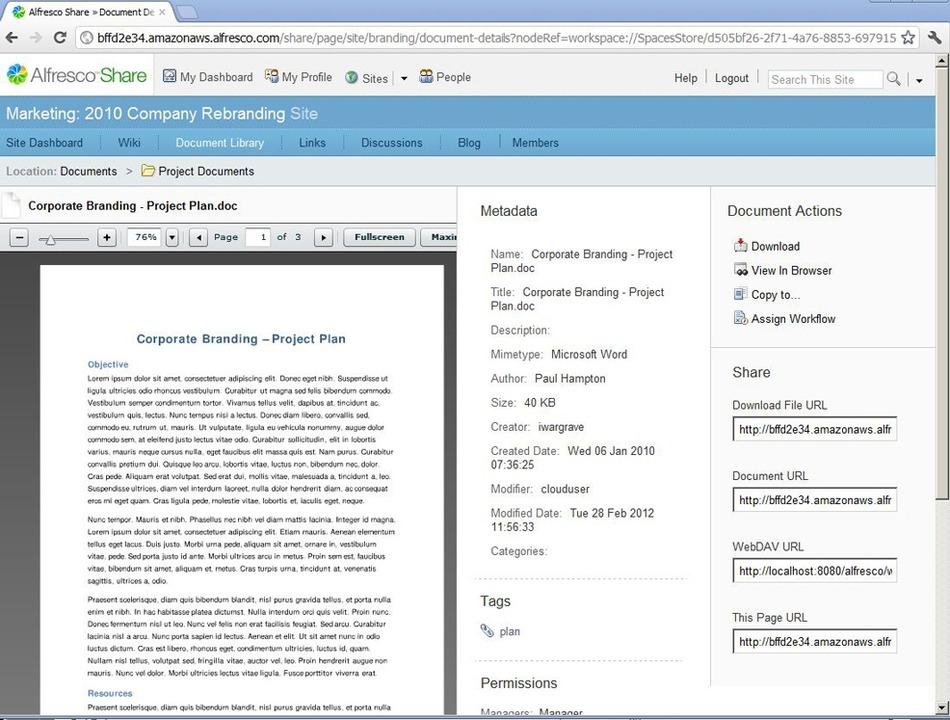 Alfresco - Alfresco ist eine Plattform...m in der Alfresco-Anwendung verfolgen.  | Foto: IDG