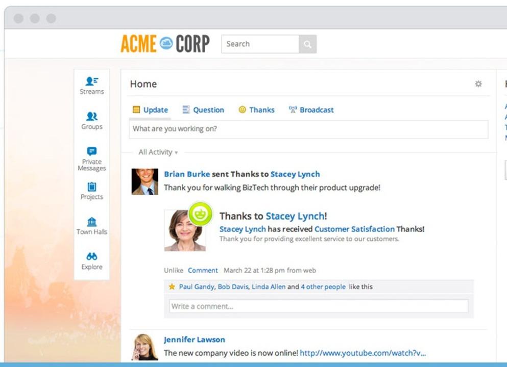 SocialCast - Mit dem von VMware 2011 ü...gement und sicheres Instant Messaging.  | Foto: IDG