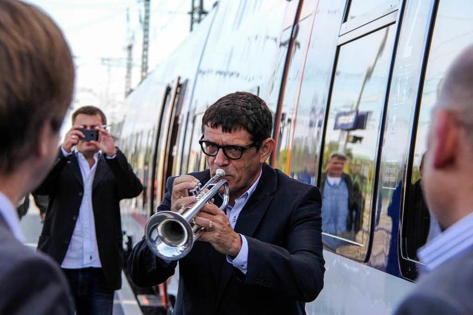 Fanfarenklänge zur Bahneröffnung von Helmut Dold – de Hämme (Foto: Alexander Huber)