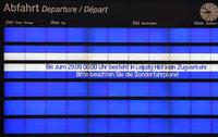 Vier Tage lang ist der Leipziger Bahnhof vom Zugverkehr abgeschnitten