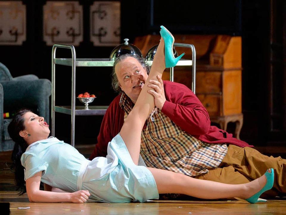 An Verdis 200. Geburtstag kommen auch ...e aus dem Falstaff der Spielzeit 2013.  | Foto: dpa