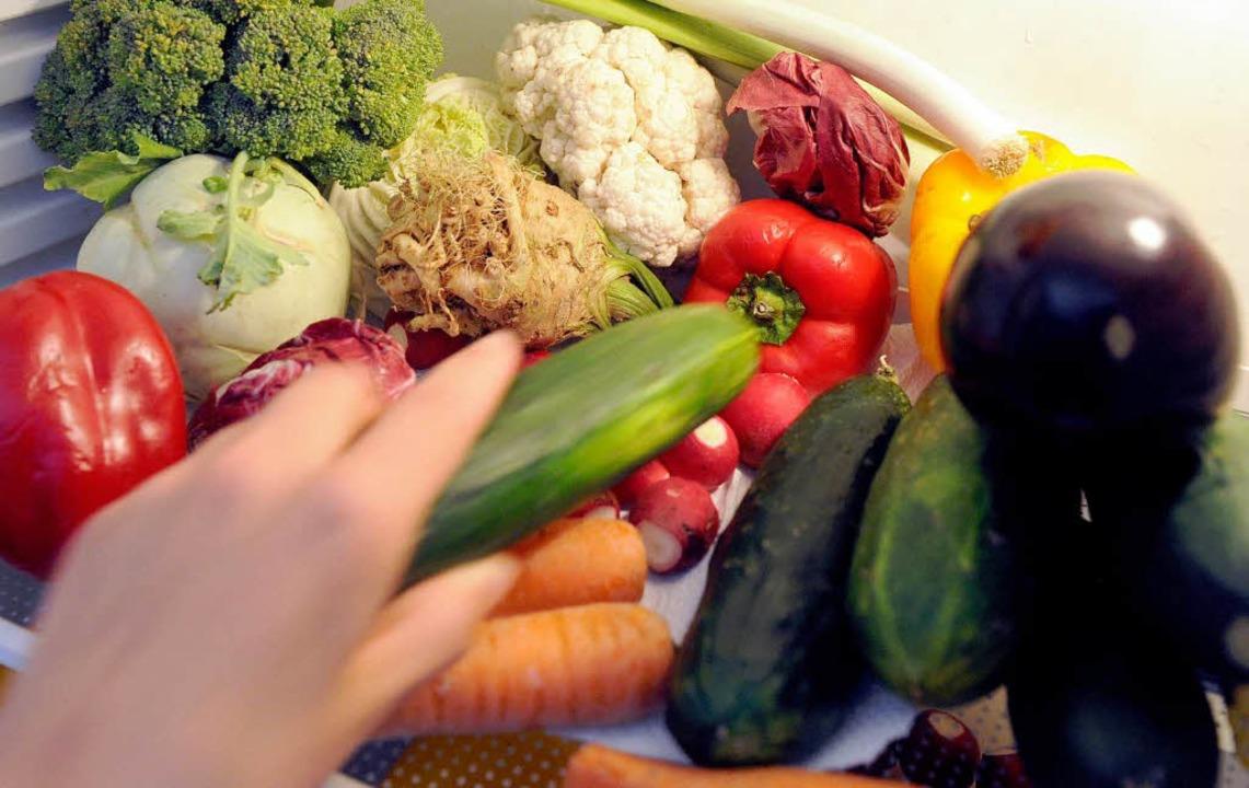 Gemüse ist für Vegetarier die Hauptspeise.   | Foto: dpa