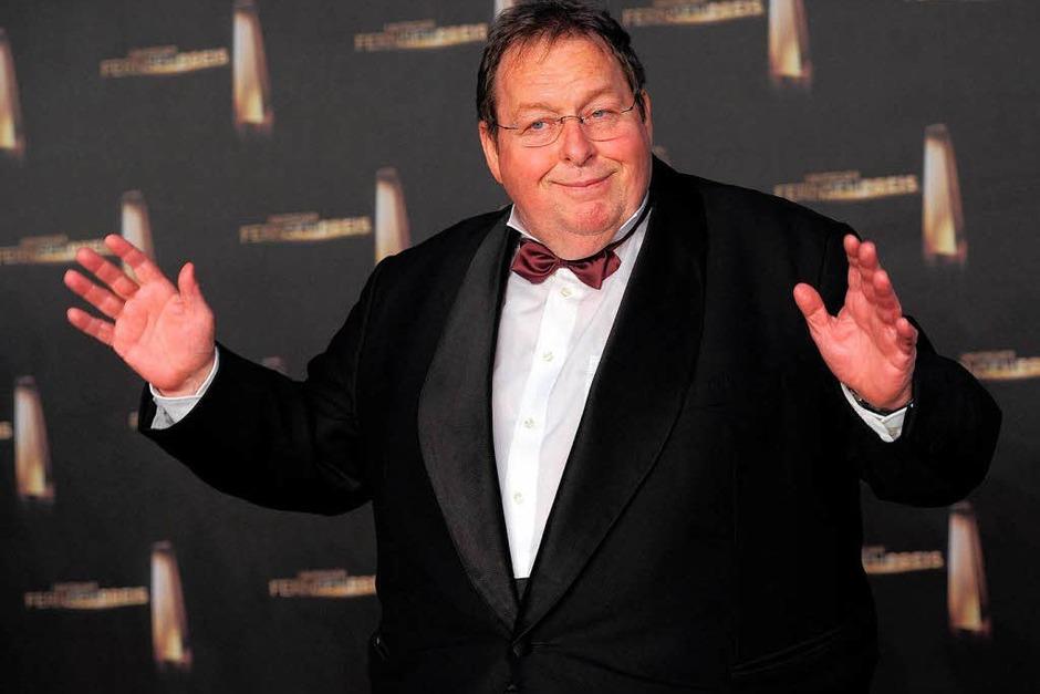 Der Schauspieler Ottfried Fischer bei der Verleihung des Deutschen Fernsehpreises: Er wurde für sein Lebenswerk ausgezeichnet. (Foto: Henning Kaiser)