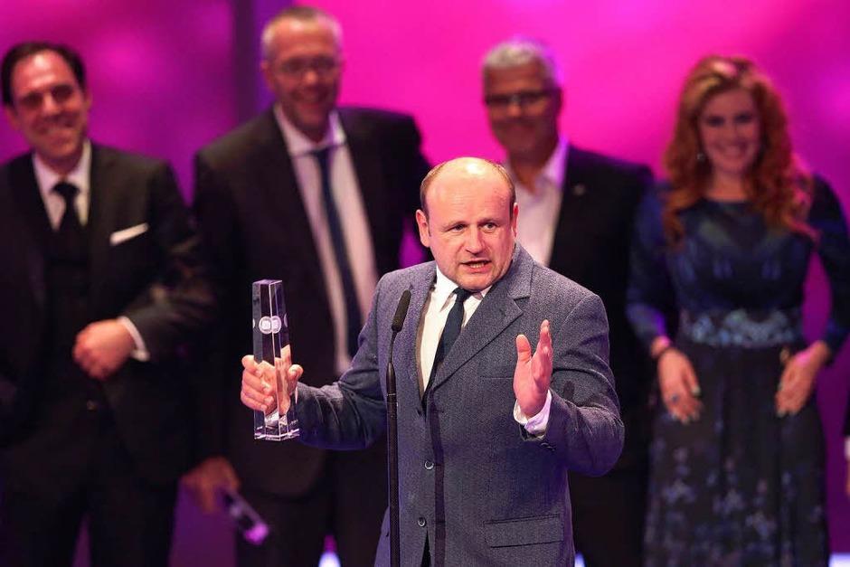 """Schauspieler Oliver Stokowski ferhielt die Auszeichnung in der Kategorie """"Beste Serie"""". (Foto: dpa)"""