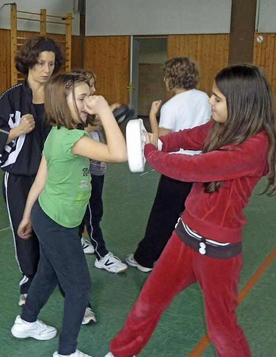 Trainierte Mädchen sind starke Mädchen.    Foto: privat