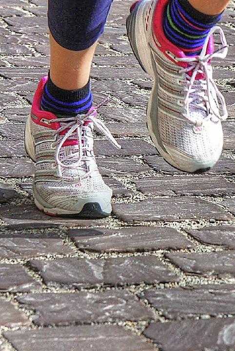 Das Ettenheimer Pflaster behagte nicht allen Läufern.  | Foto: Sandra Decoux-Kone