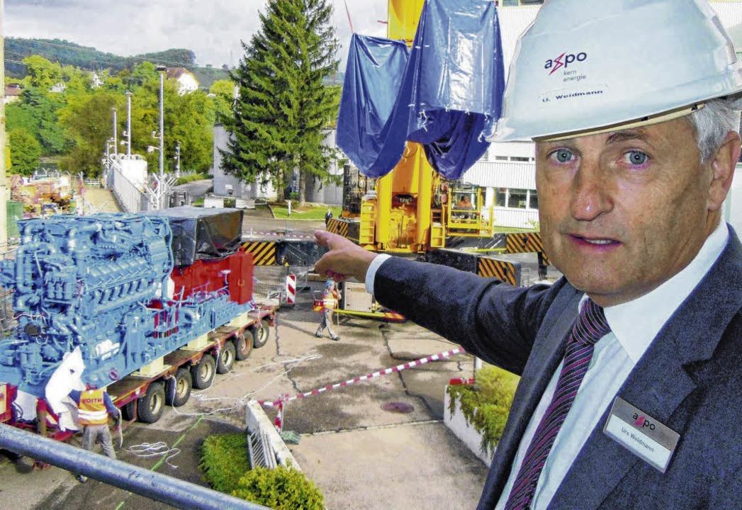 Beim schweizerischen Atomkraftwerk Bez...t worden. Im Bild Leiter Urs Weidmann.  | Foto: Gerard