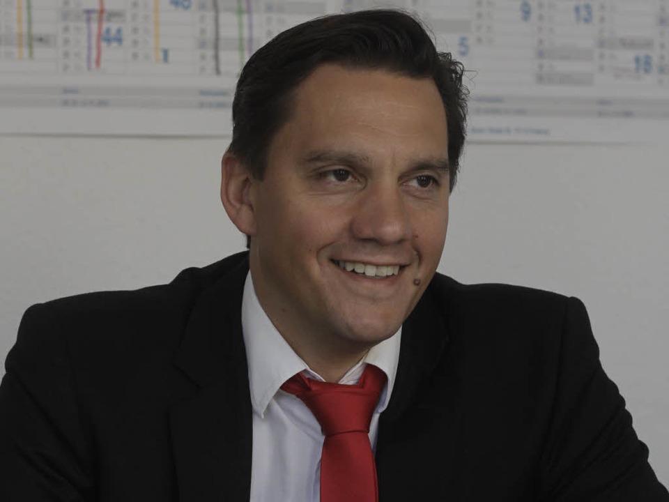 Johannes Fechner im BZ-Interview am 23...mber, dem Tag nach der Bundestagswahl.  | Foto: Patrik Müller