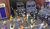 Modellbau: Figuren zum Nachstellen von Straßenschlachten