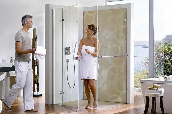 Altersgerechte Dusche Kosten : einer ebenerdigen Dusche ? kann Kosten sparen. Foto: heiler-web.com