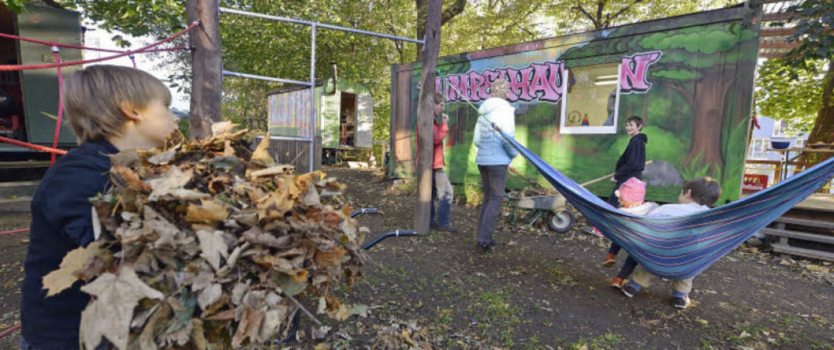 "Viel Betrieb herrscht immer in ""...dem Familienspielplatz im Stühlinger.   | Foto: Michael Bamberger"