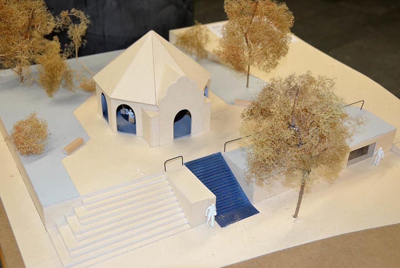 Modell des Ateliers Dreiseitl    Foto: sigrid umiger