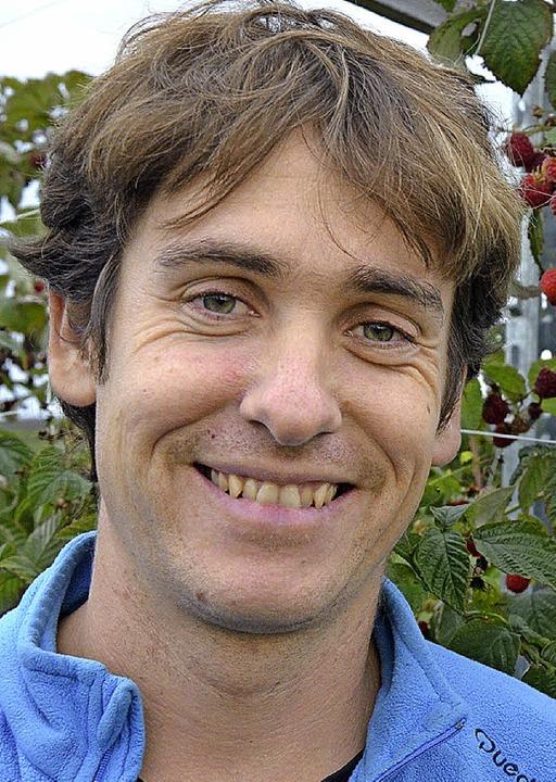 Hat heute allen Grund zur Freude: Biobauer Joel Siegel aus Norsingen   | Foto: Hennicke