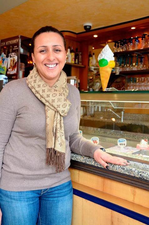 Eisverkäuferin Siham Chihani.  | Foto: Martin Herceg