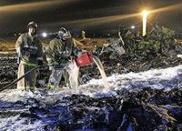 Suche nach Ursachen: Flugzeugunglück in Russland