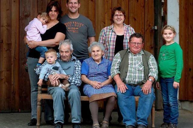 Auf dem Lindenhof leben vier Generationen