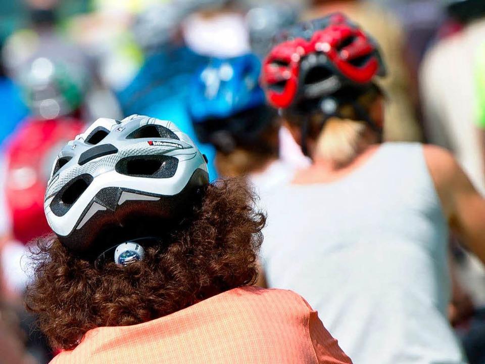 Kommt die Helmpflicht für Radfahrer?    Foto: dpa