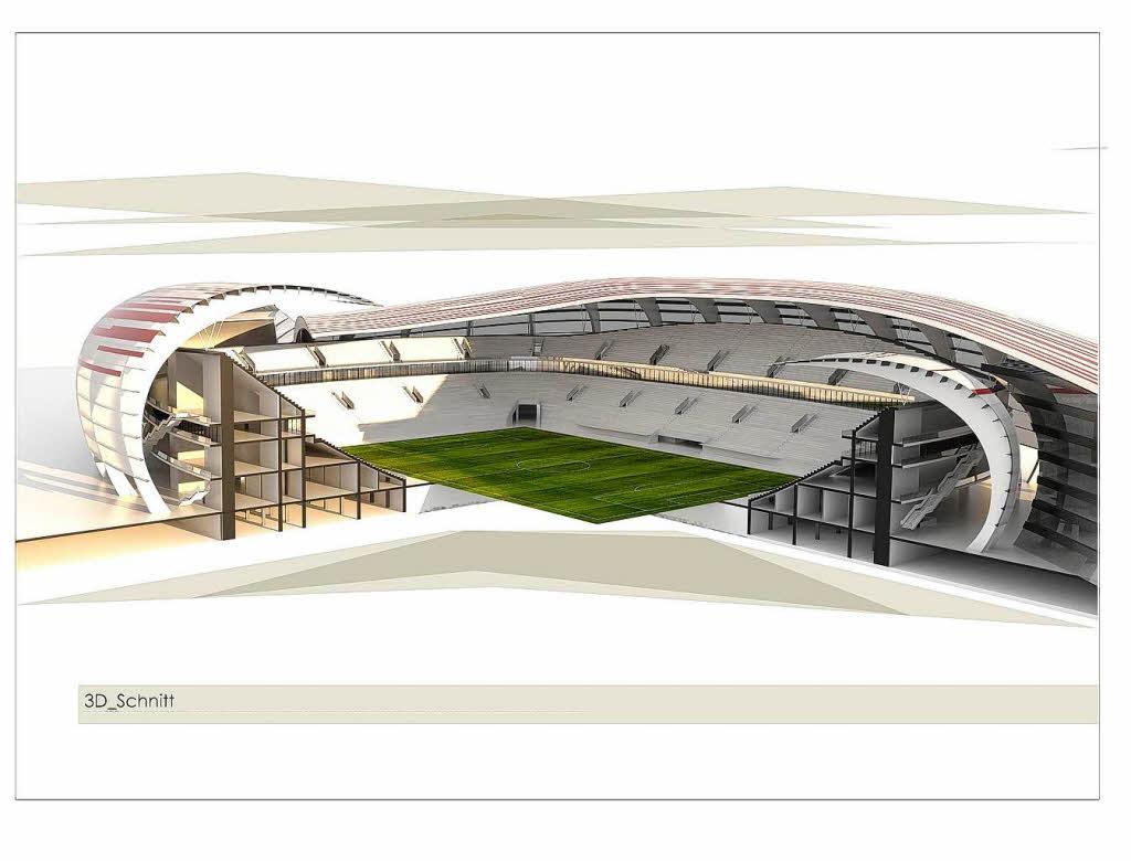lahrer entwirft futuristisches stadion f r den sc freiburg lahr badische zeitung. Black Bedroom Furniture Sets. Home Design Ideas